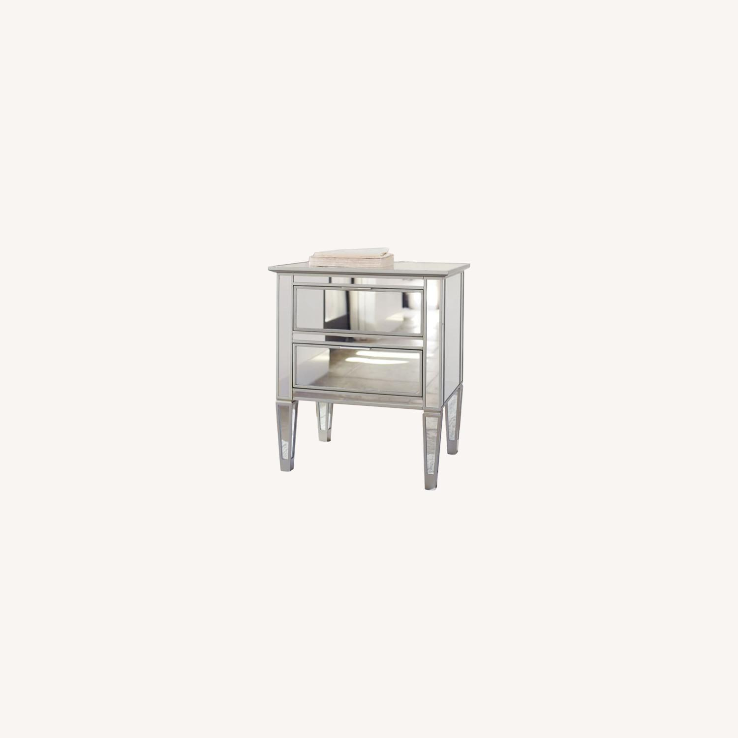 Pottery Barn Mirrored Bedside Tables - image-0