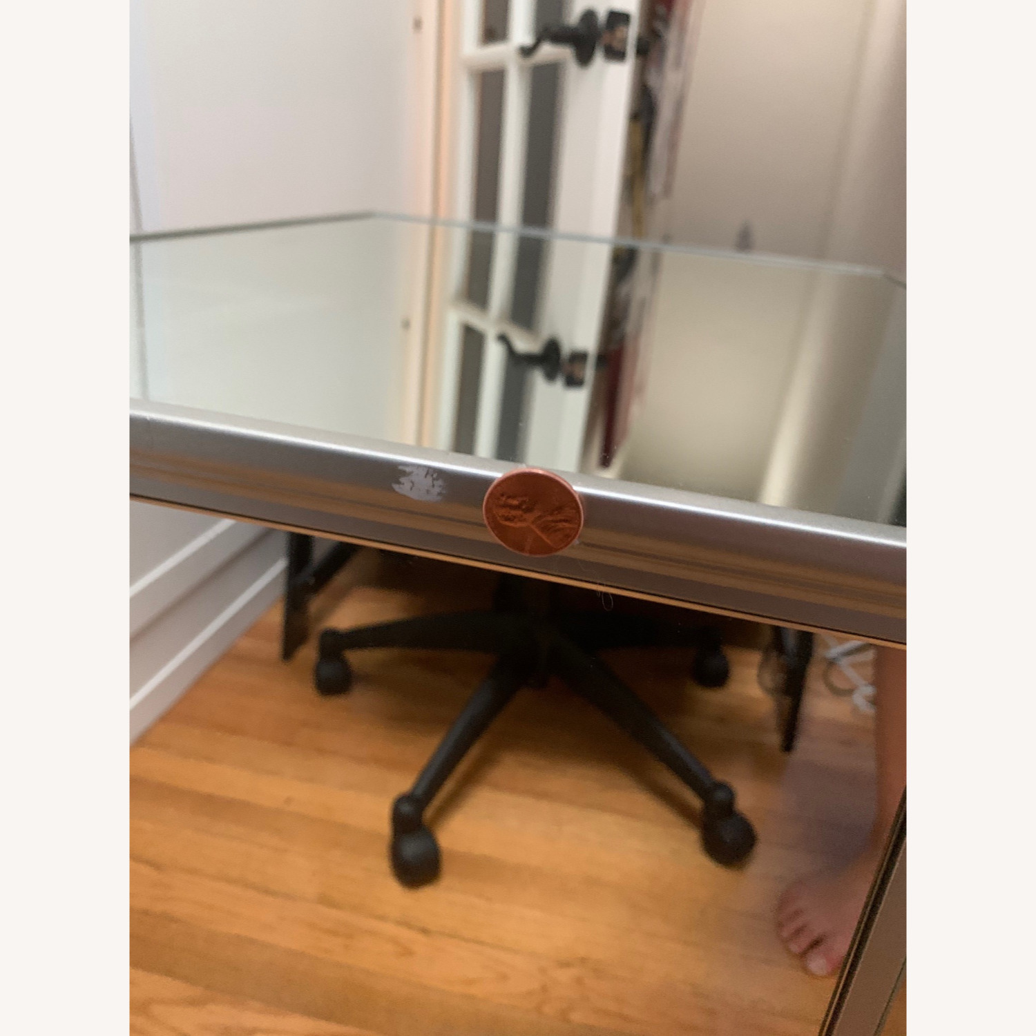 Pottery Barn Mirrored Bedside Tables - image-5