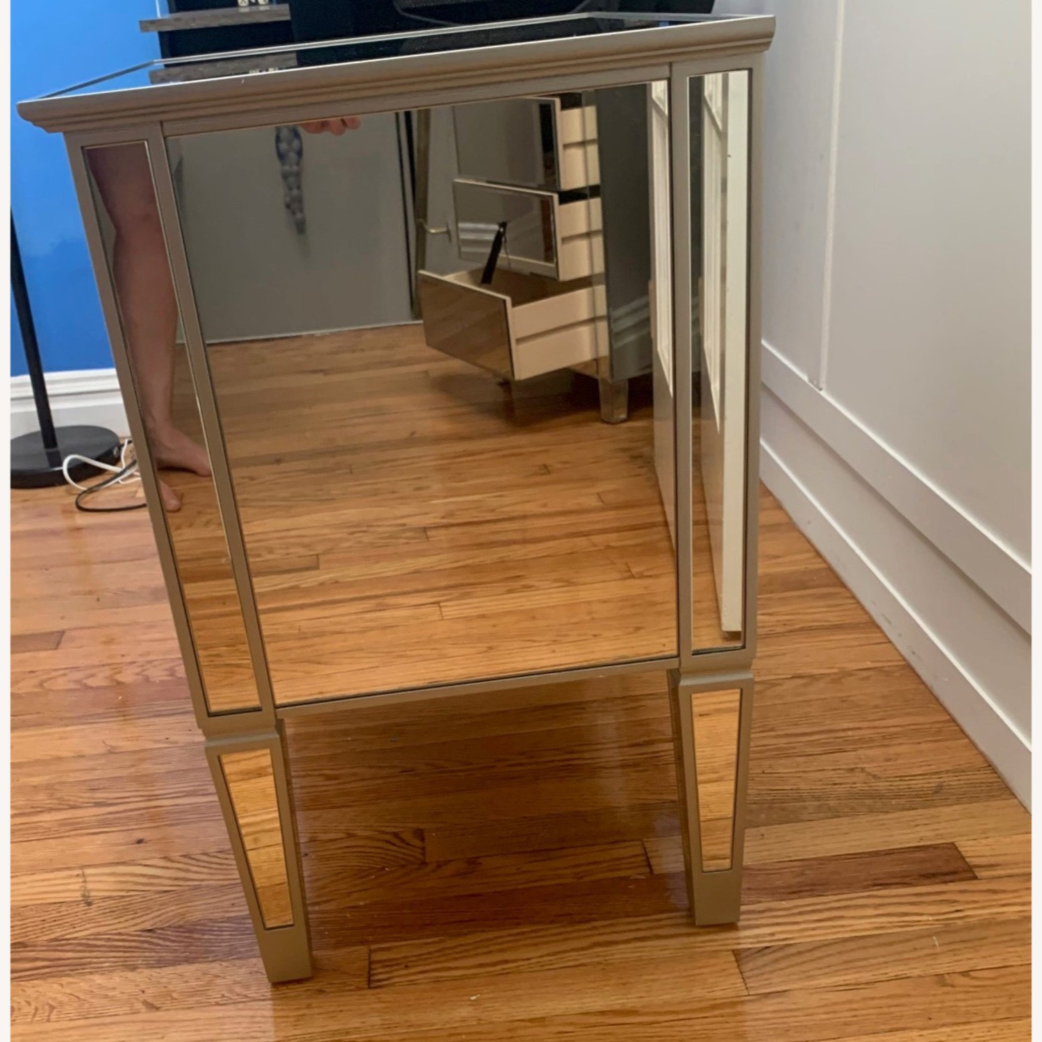 Pottery Barn Mirrored Bedside Tables - image-4