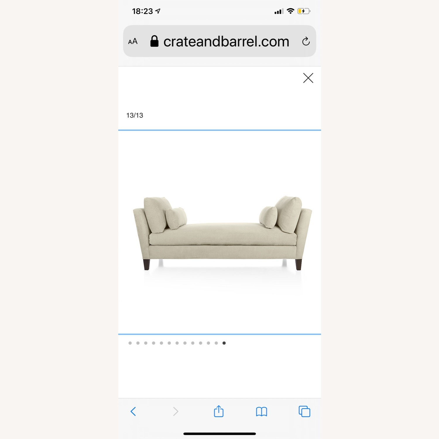 Crate and Barrel Marlowe Daybed - image-2