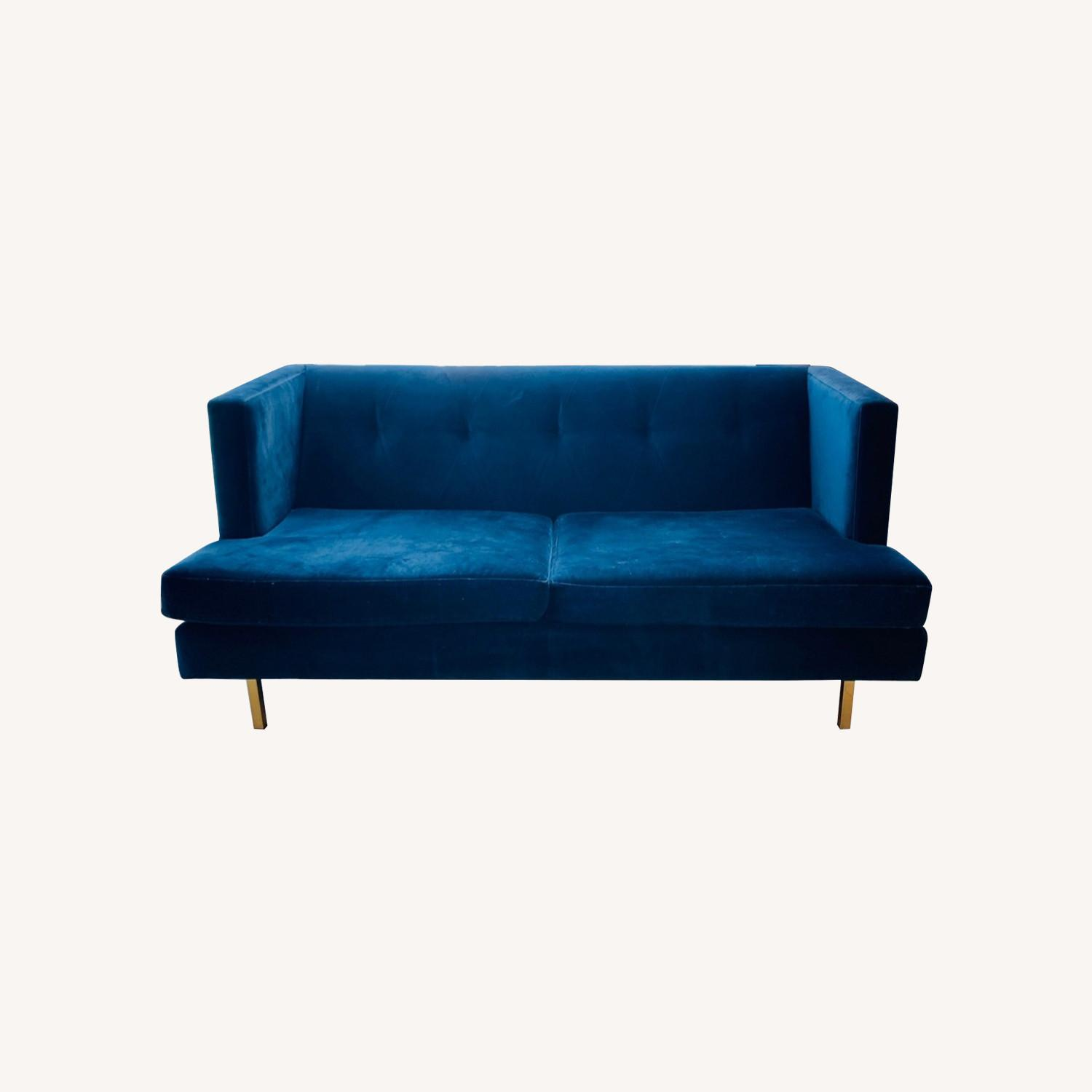 CB2 Avec Sofa with Brass Legs - image-0