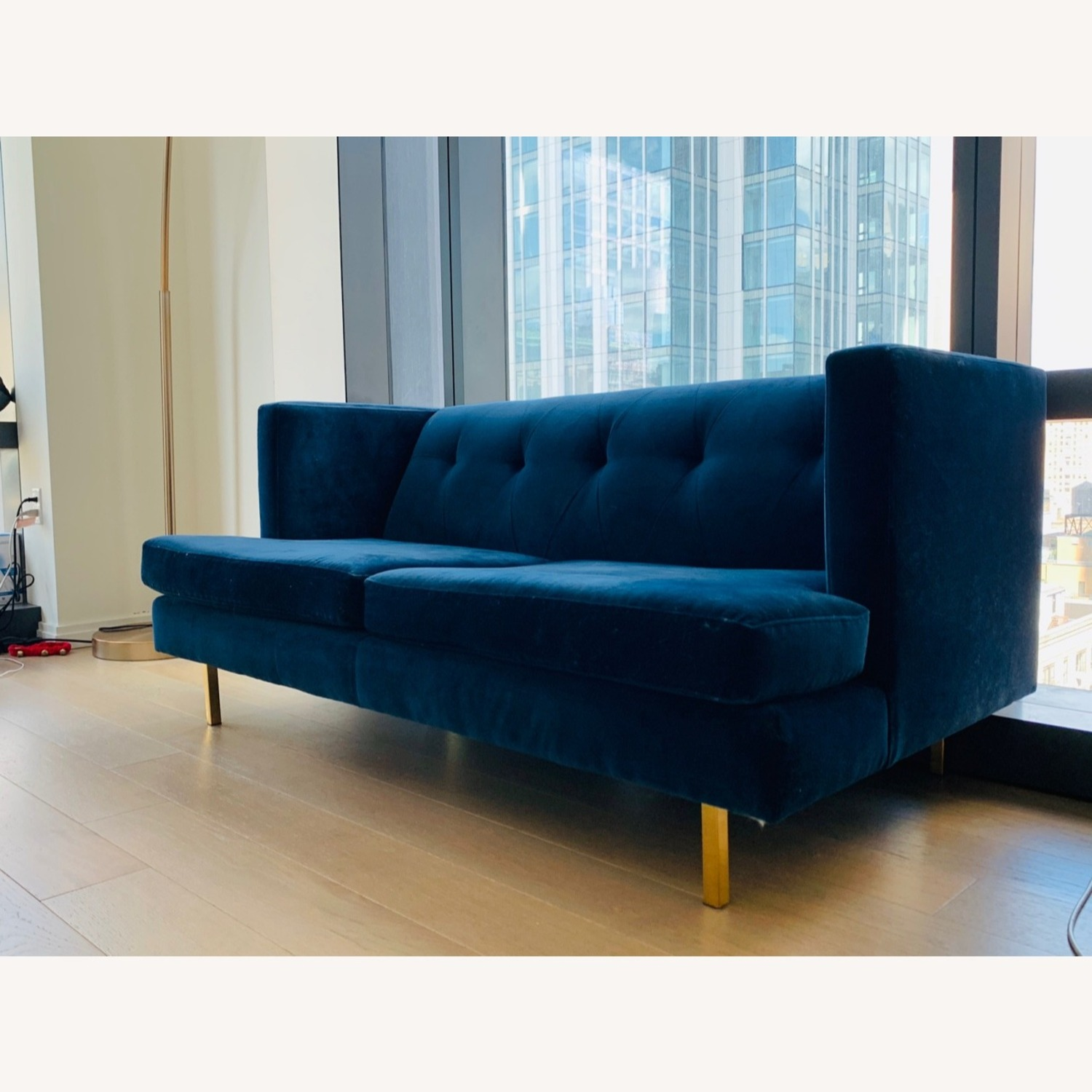 CB2 Avec Sofa with Brass Legs - image-2