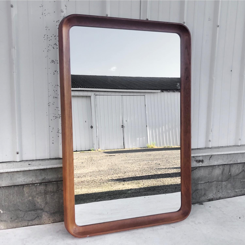 Vintage Teak Wall Mirror - image-0