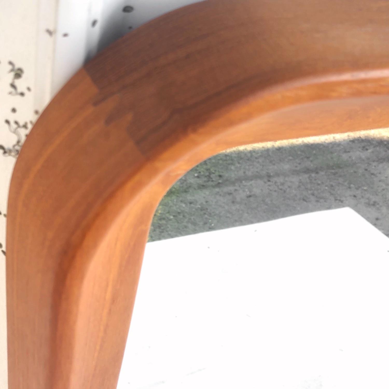 Vintage Teak Wall Mirror - image-3