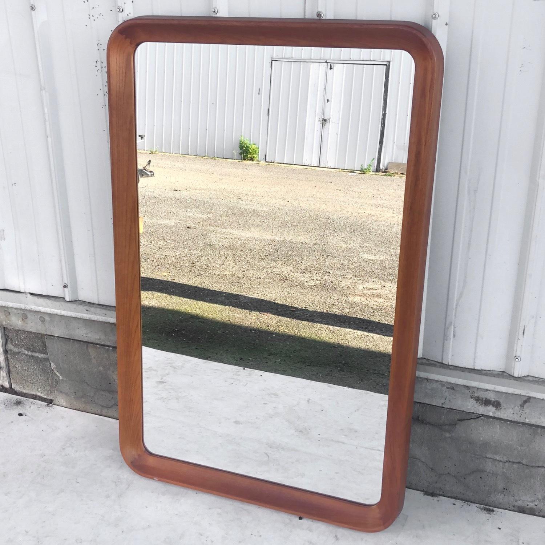 Vintage Teak Wall Mirror - image-2