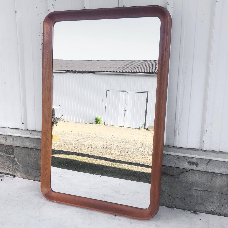 Vintage Teak Wall Mirror - image-1