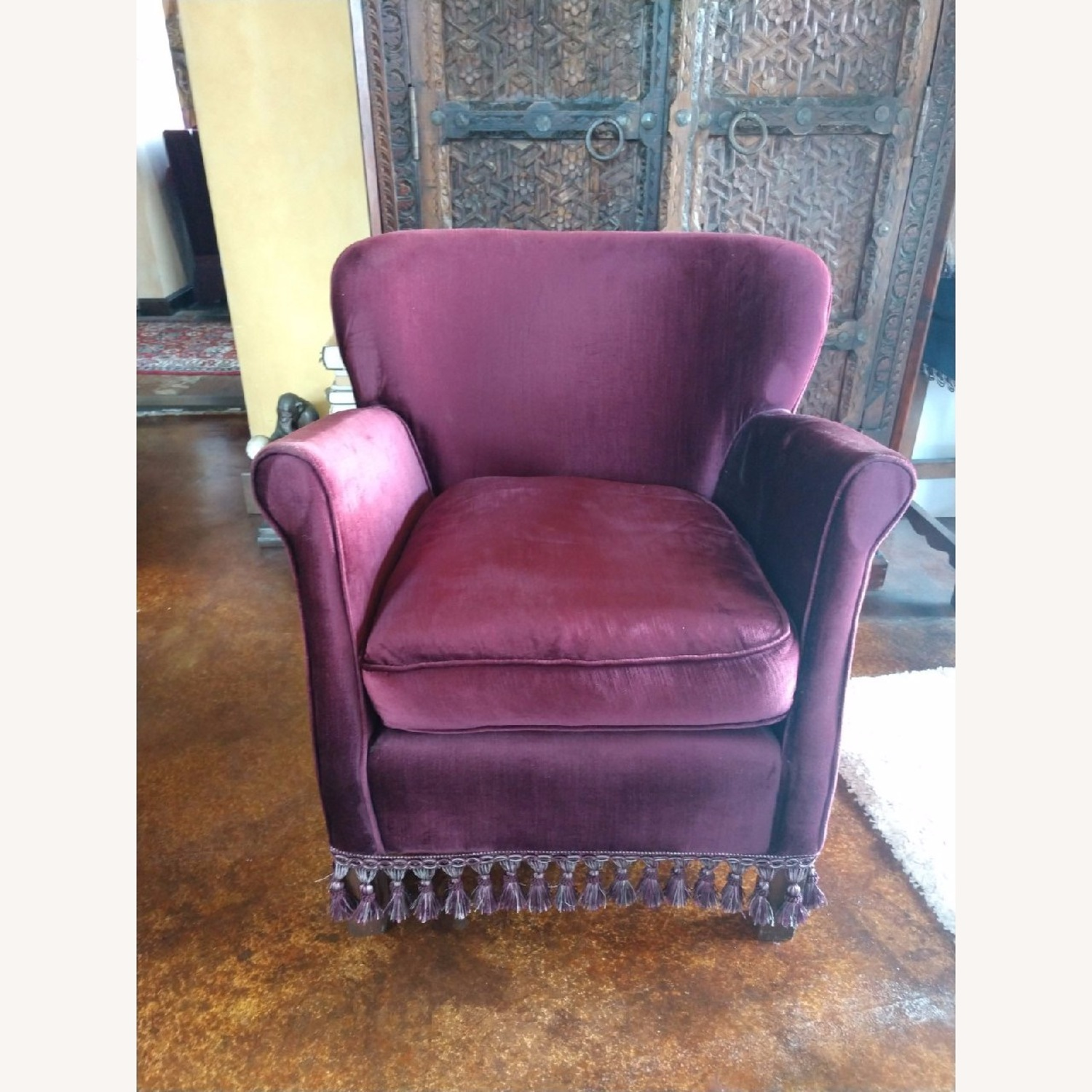 Set of two Velvet Armchairs - image-2