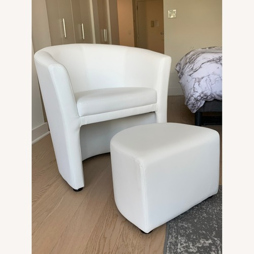 Used Zipcode Design Darvin Barrel Chair and Ottoman for sale on AptDeco