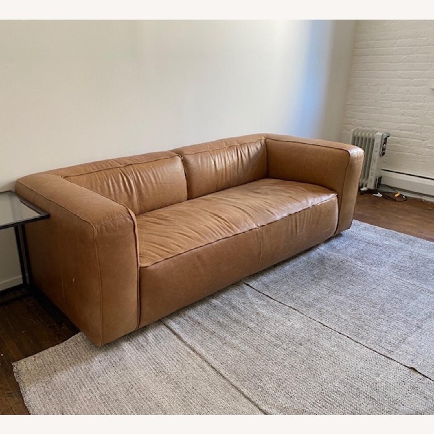 CB2 Leather Lenyx Sofa - image-2
