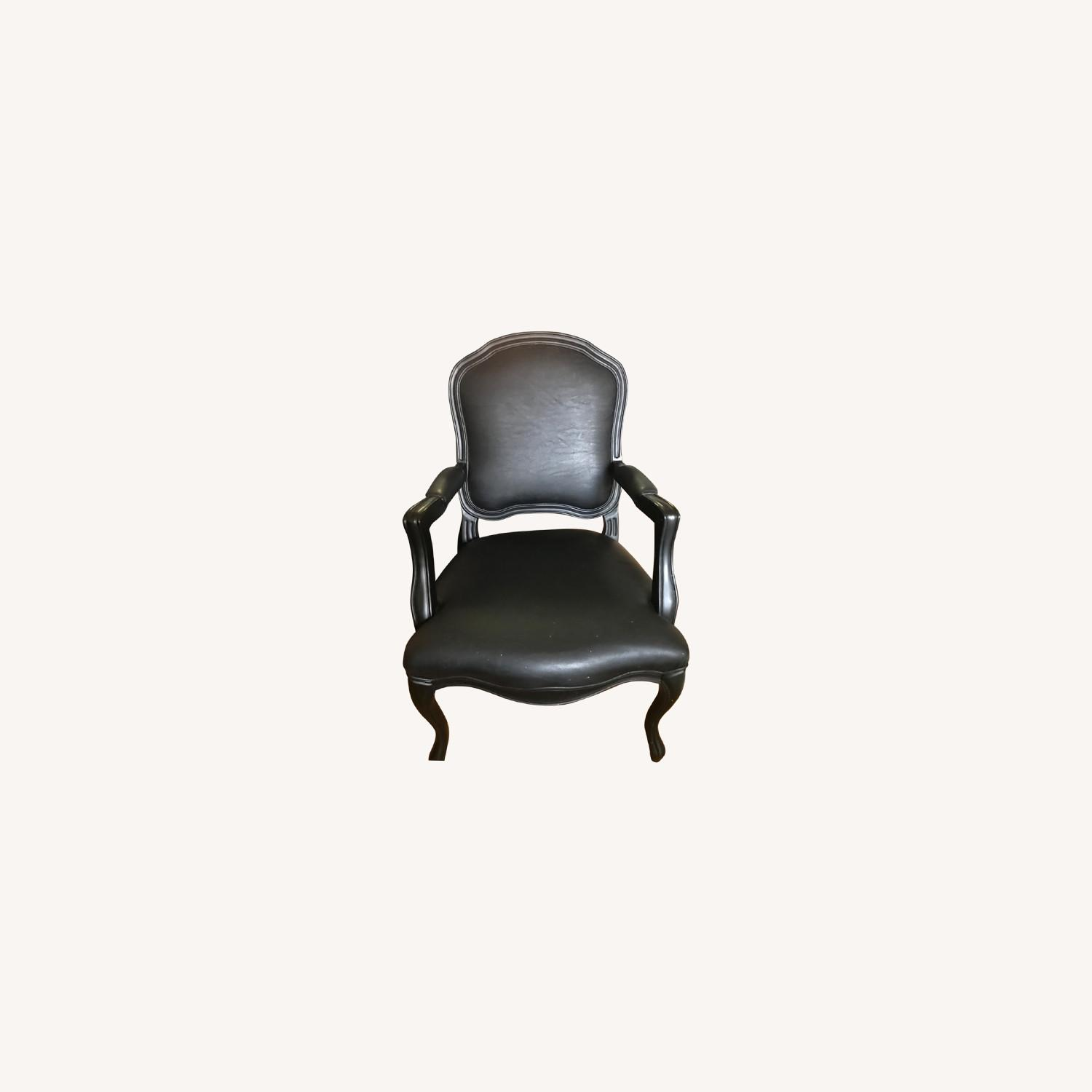 CB2 Leather Chair - image-0