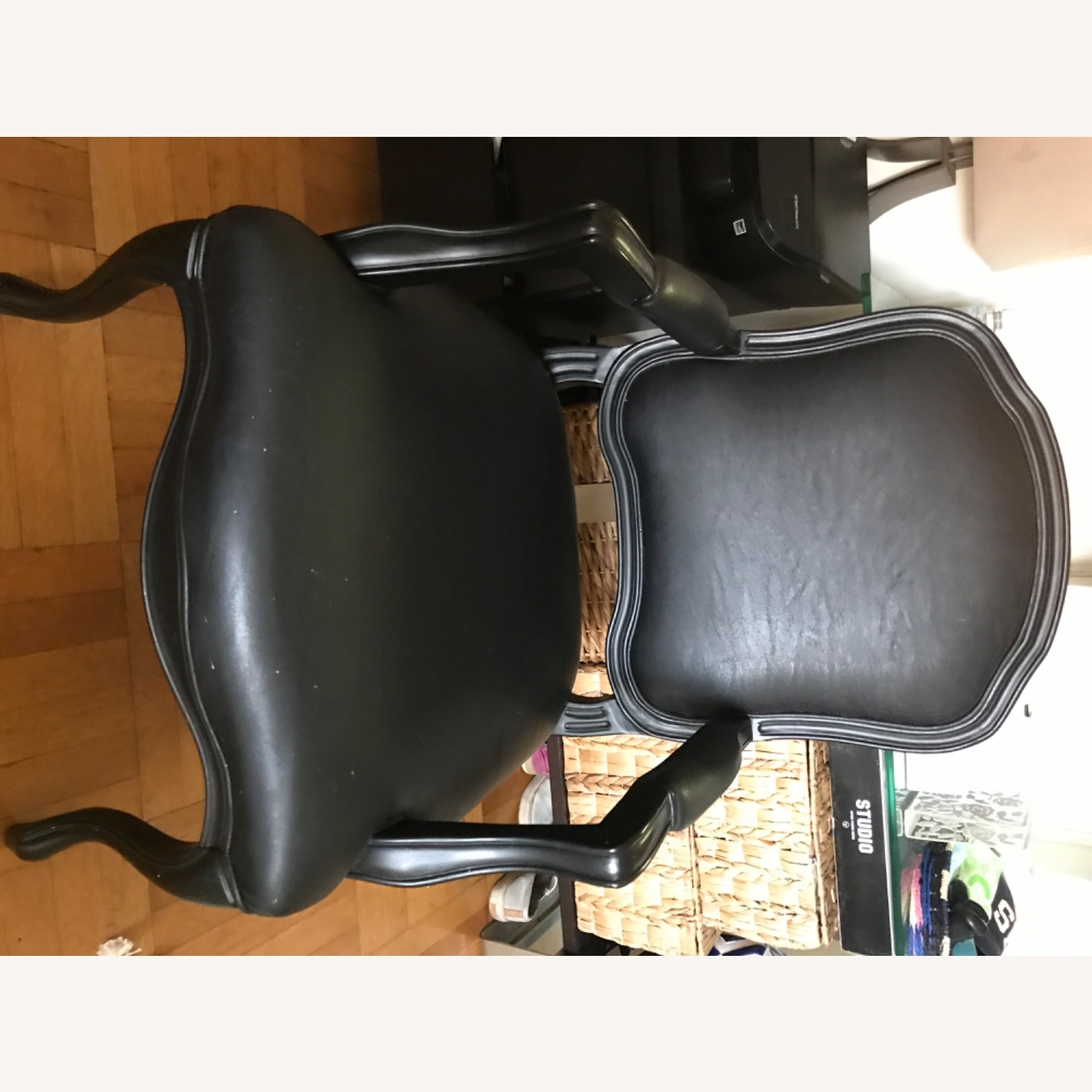 CB2 Leather Chair - image-2