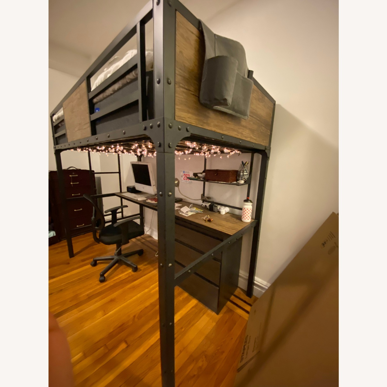 Furniture of America Wood Panel Twin Loft Bed - image-4
