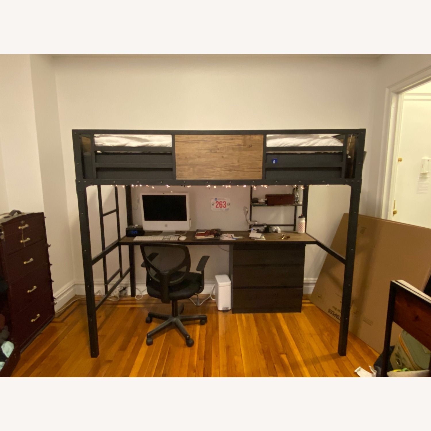 Furniture of America Wood Panel Twin Loft Bed - image-1
