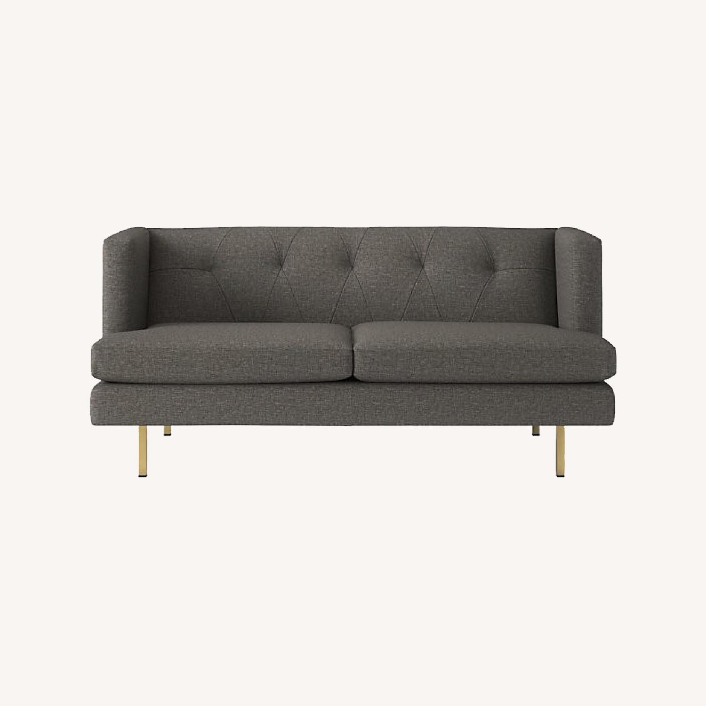 CB2 Avec Grey Apartment Sofa - image-0