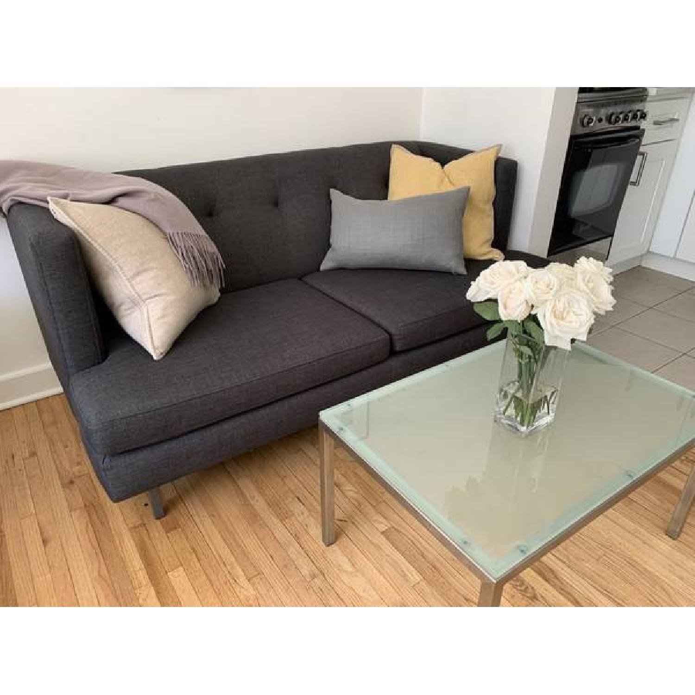 CB2 Avec Grey Apartment Sofa - image-3
