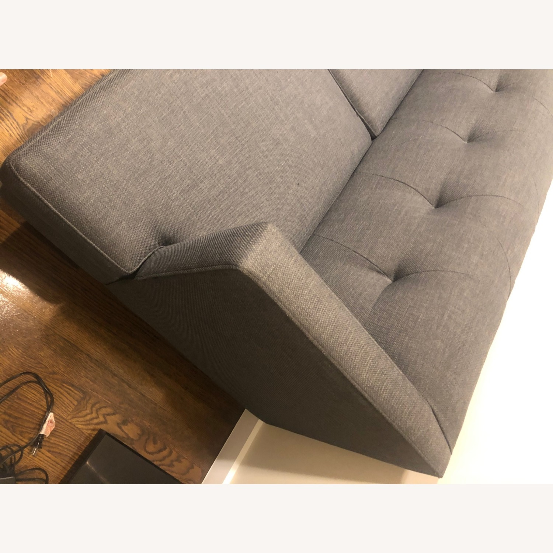 CB2 Avec Grey Apartment Sofa - image-5