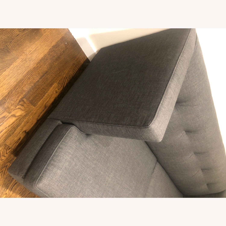 CB2 Avec Grey Apartment Sofa - image-6