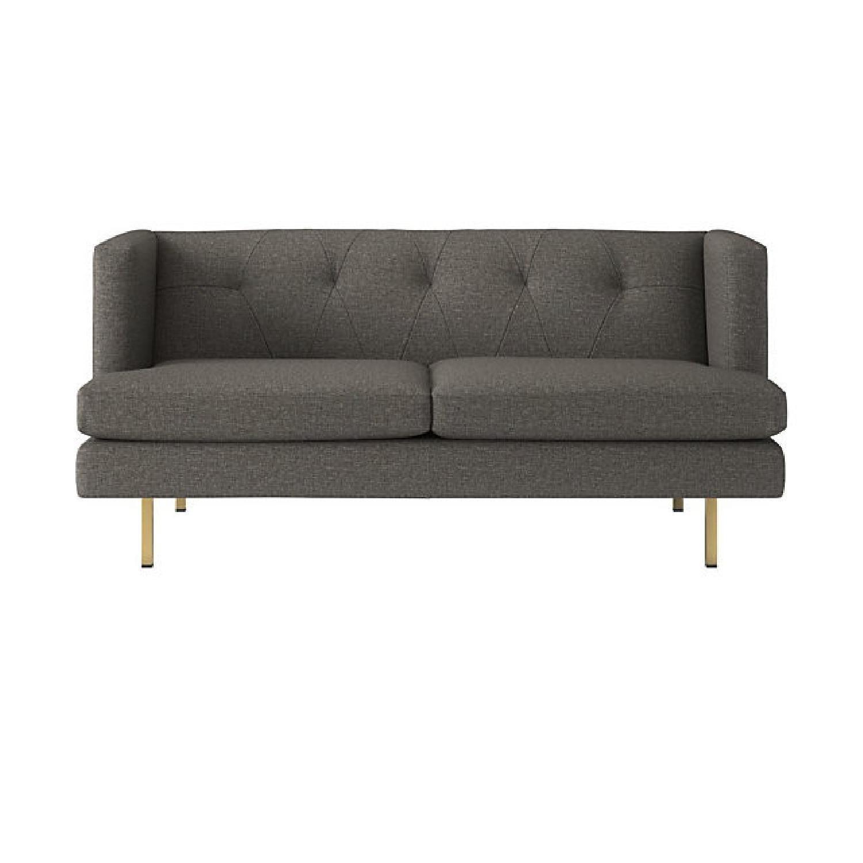 CB2 Avec Grey Apartment Sofa - image-1
