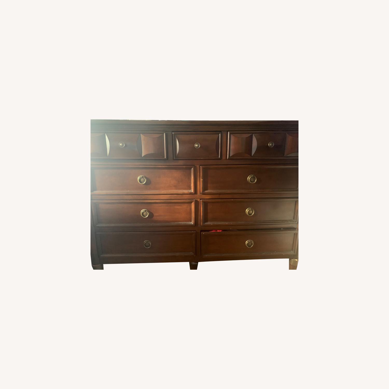 Raymour & Flanigan 9 Drawer Wooden Dresser - image-0