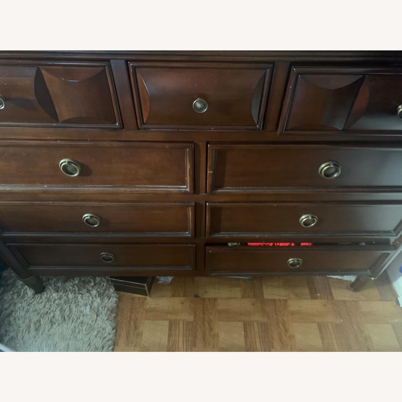 Raymour & Flanigan 9 Drawer Wooden Dresser - image-3