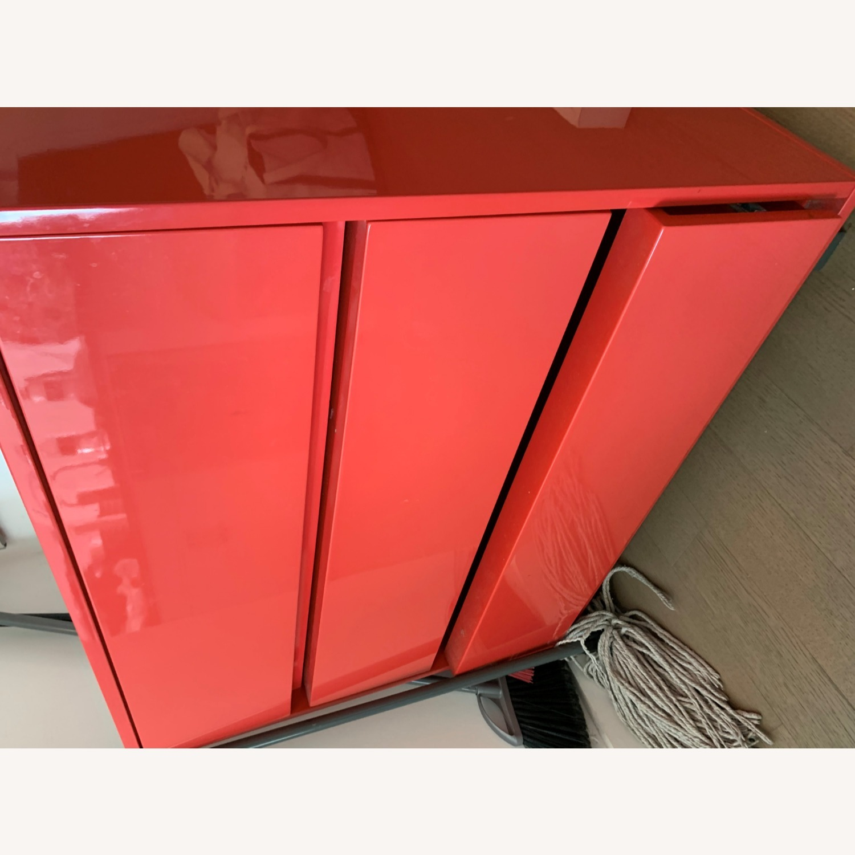 CB2 Fire Engine Red 3-Drawer Dresser - image-6