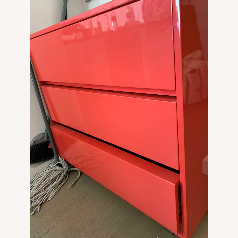 CB2 Fire Engine Red 3-Drawer Dresser - image-2