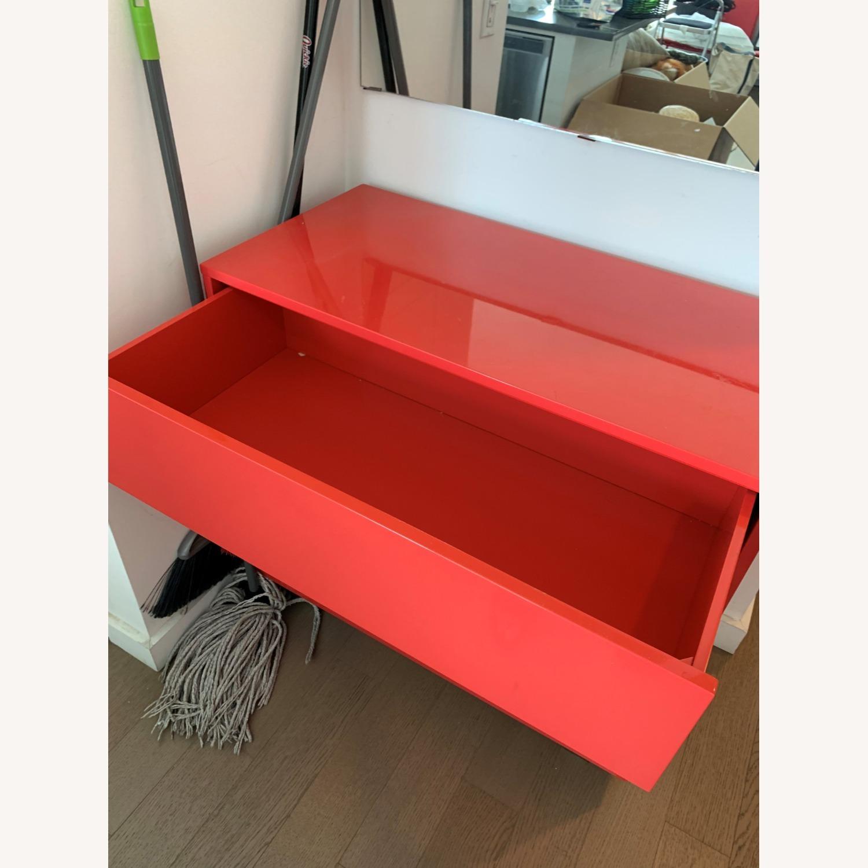 CB2 Fire Engine Red 3-Drawer Dresser - image-3