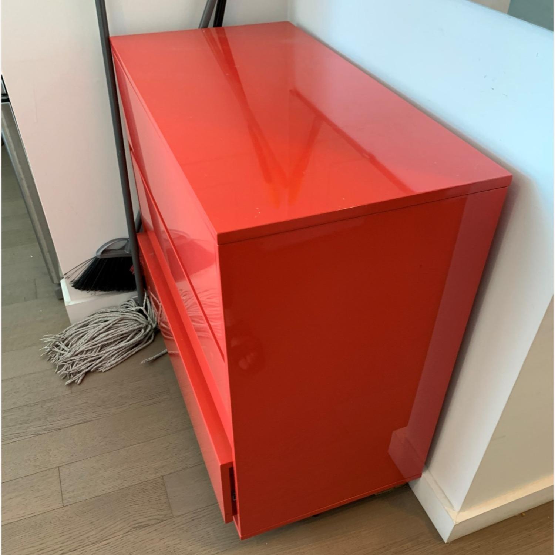 CB2 Fire Engine Red 3-Drawer Dresser - image-4