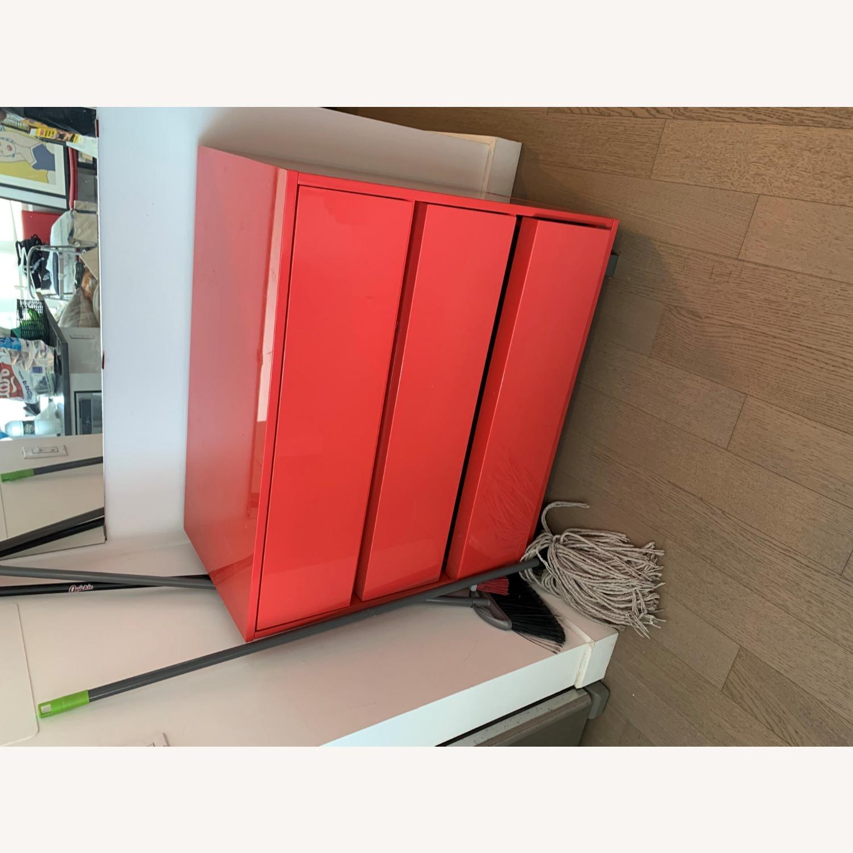 CB2 Fire Engine Red 3-Drawer Dresser - image-5