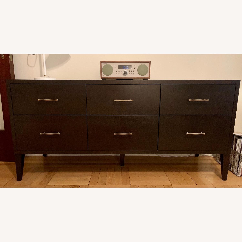 West Elm Six Drawer Dresser in Chocolate - image-1