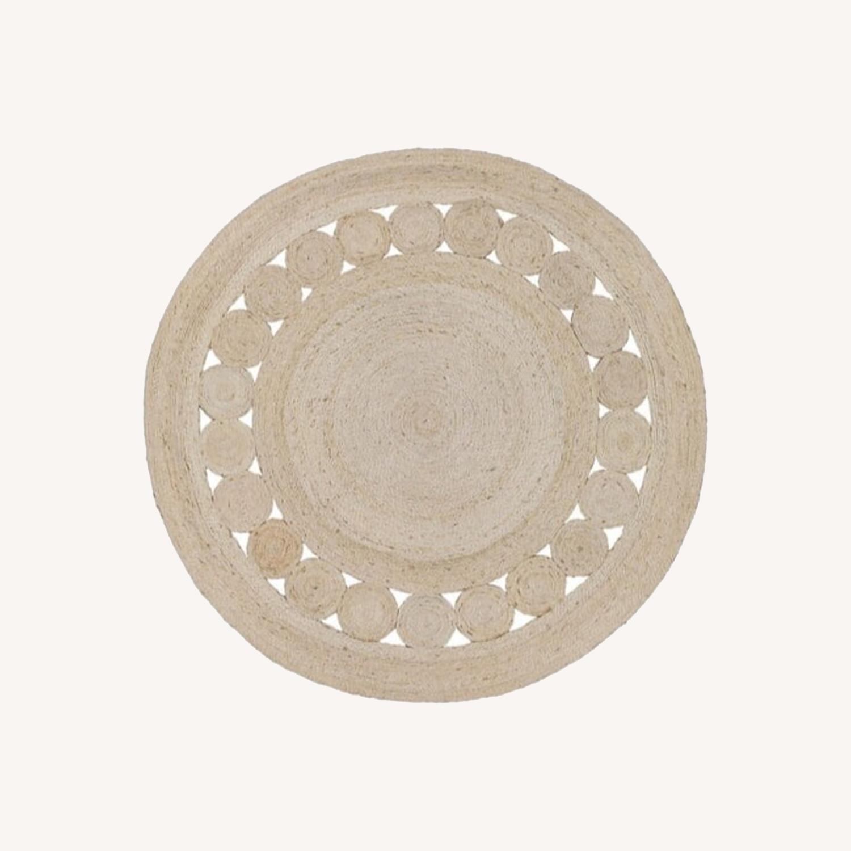 Rivet Modern Round Gold Mirror - image-5