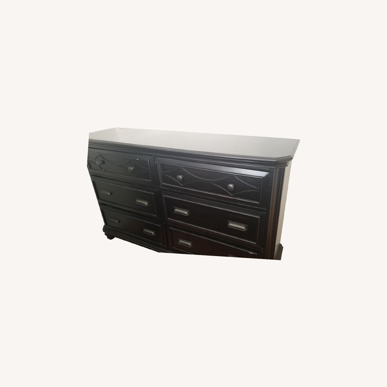 Bob's Discount Black Wide Dresser - image-0