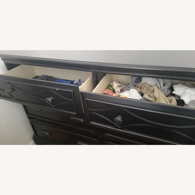 Bob's Discount Black Wide Dresser - image-3