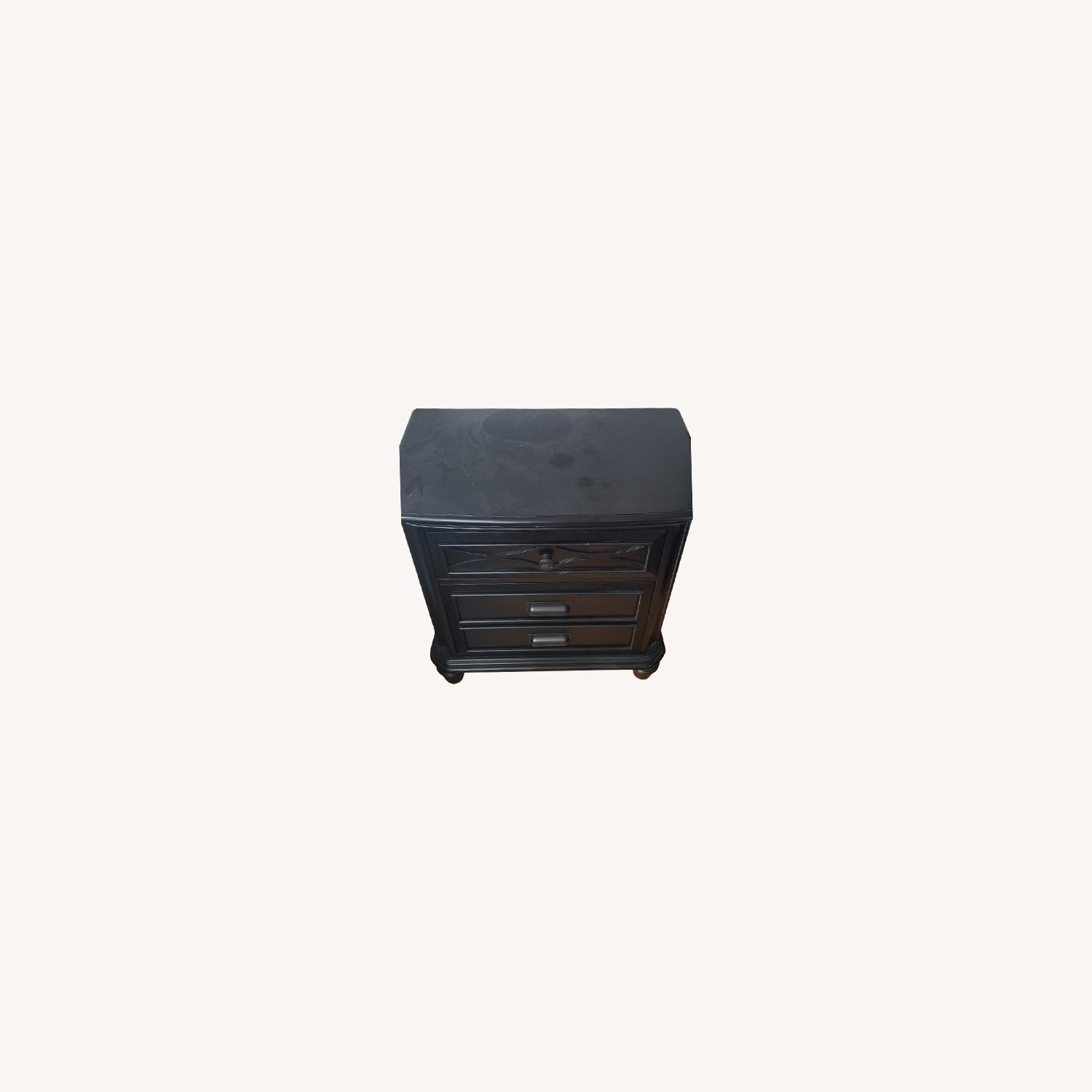 Bob's Discount Black Nightstand with USB - image-0