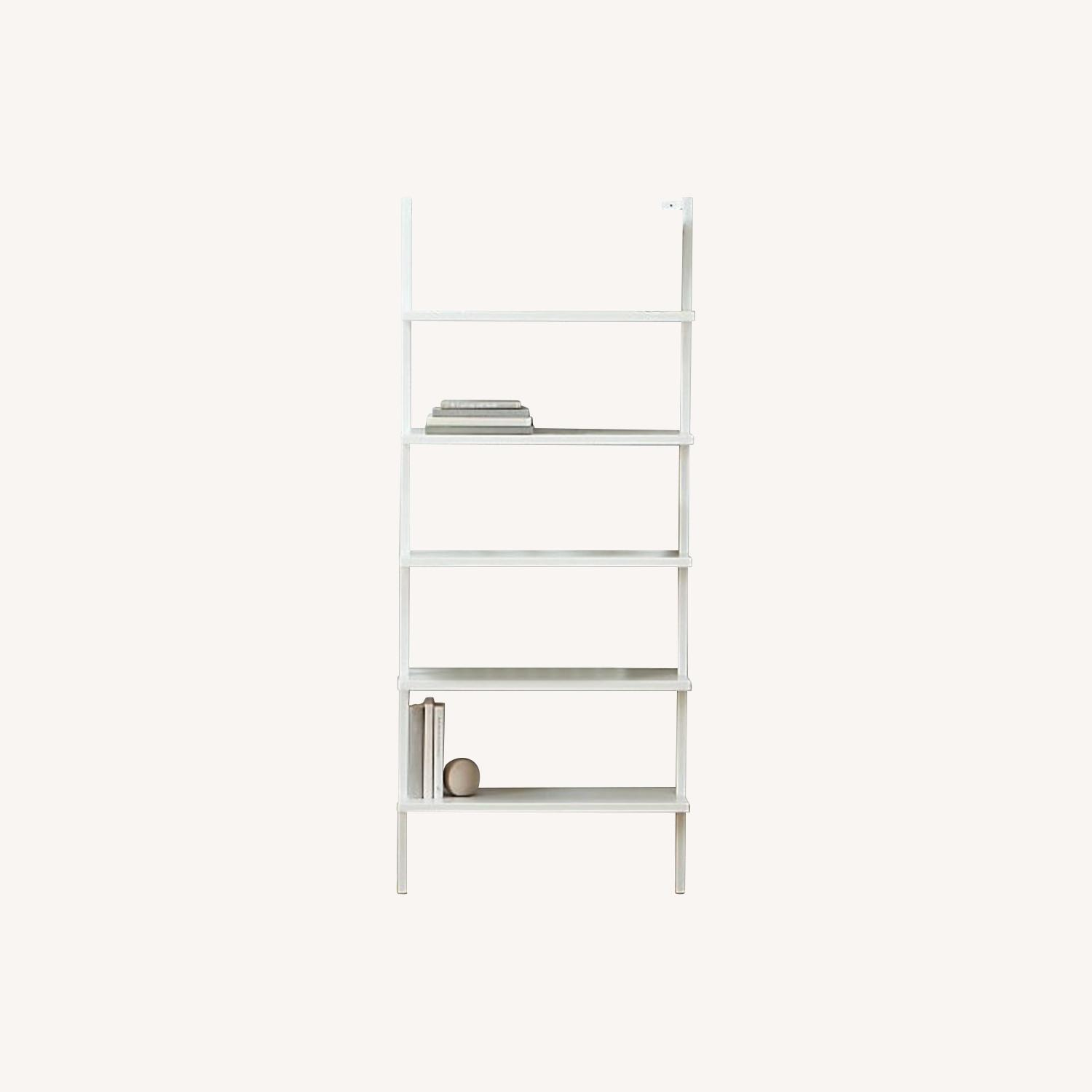 CB2 Stairway White Wall Mounted Bookcase - image-0