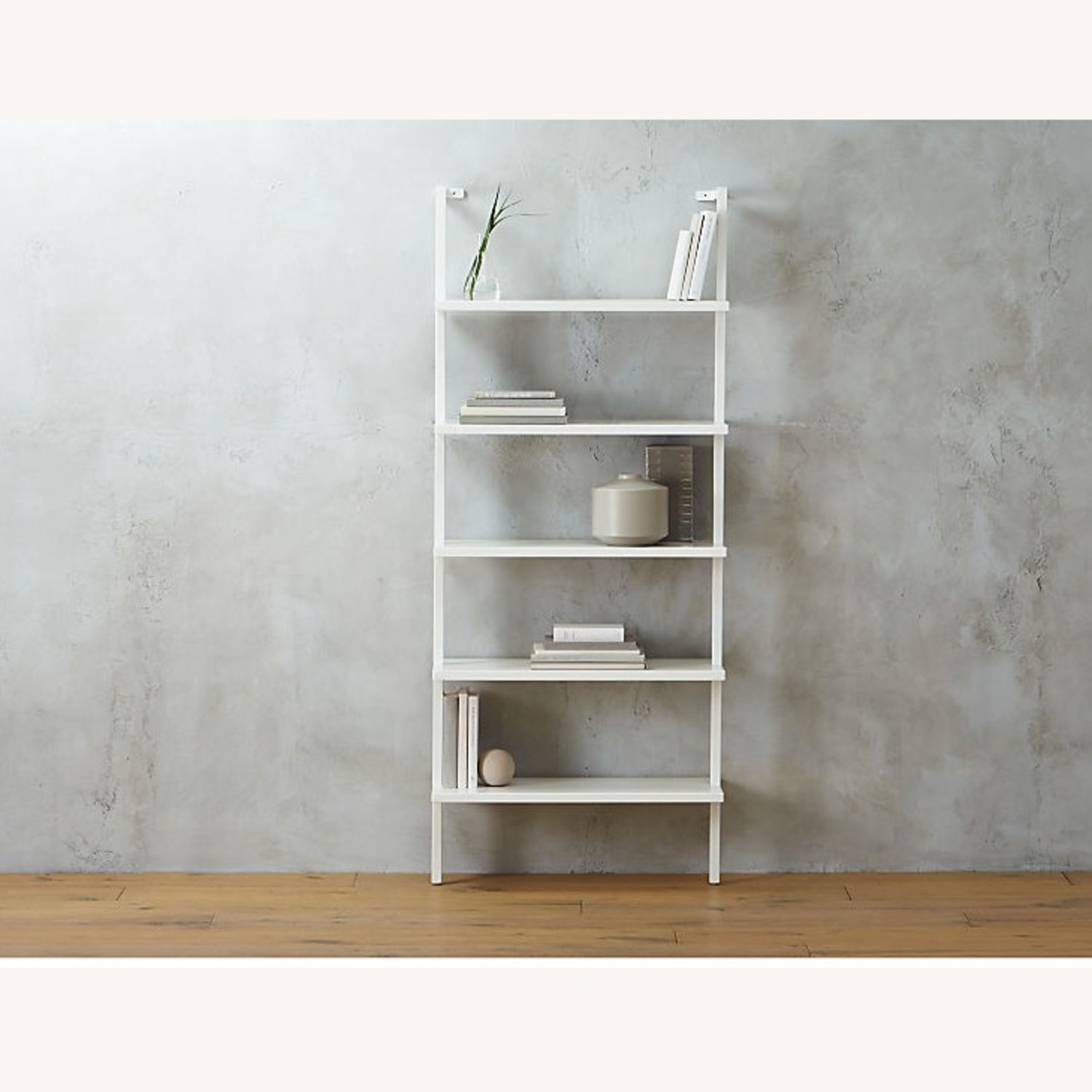 CB2 Stairway White Wall Mounted Bookcase - image-1