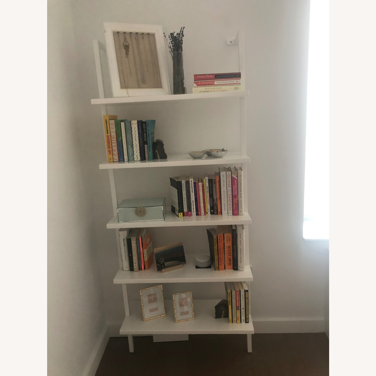 CB2 Stairway White Wall Mounted Bookcase - image-2