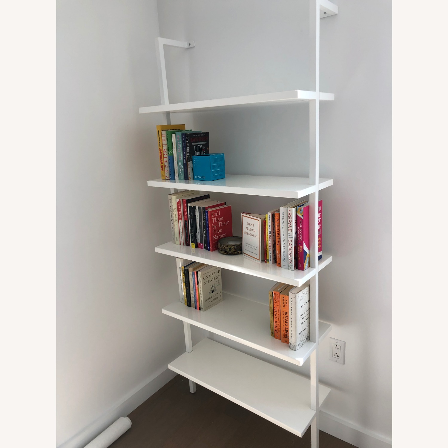 CB2 Stairway White Wall Mounted Bookcase - image-3