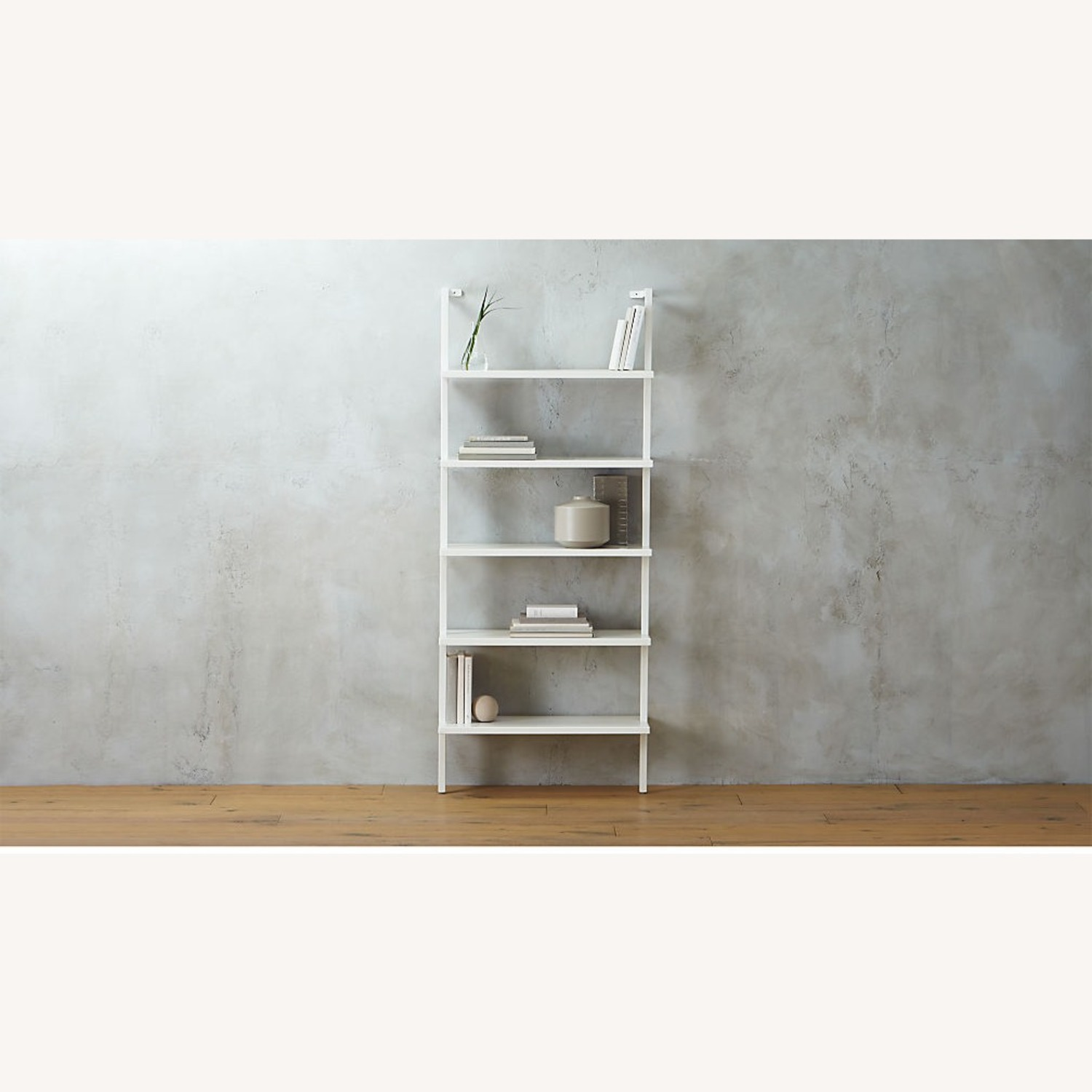 CB2 Stairway White Wall Mounted Bookcase - image-4