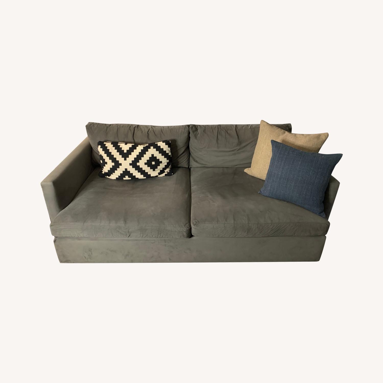 "Crate and Barrel Lounge II 83"" Deep Sofa - image-0"