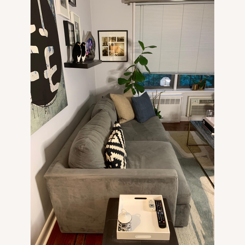 "Crate and Barrel Lounge II 83"" Deep Sofa - image-4"