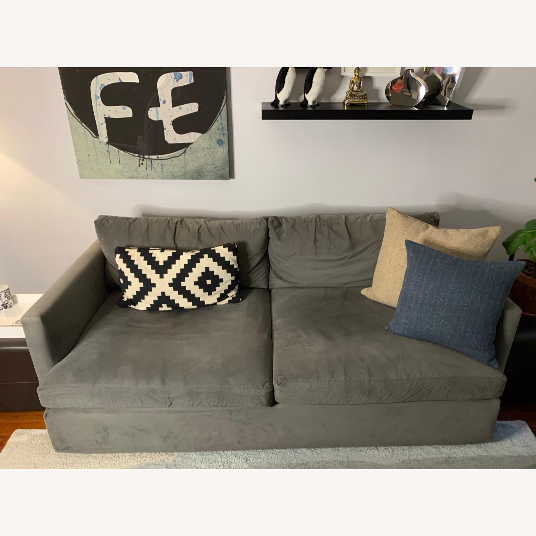 "Crate and Barrel Lounge II 83"" Deep Sofa - image-1"