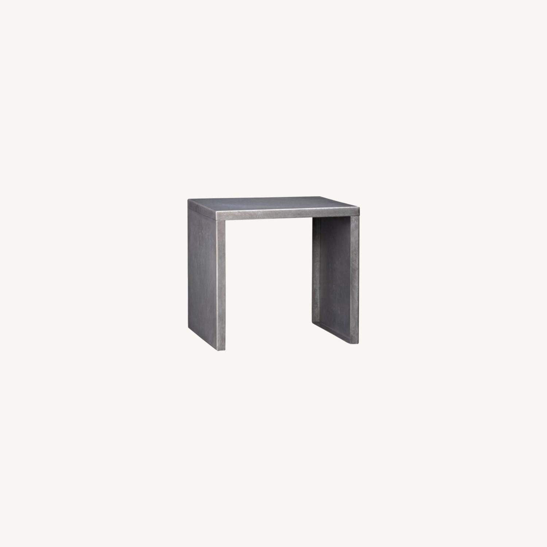 CB2 Skinny Dip Galvanized Indoor/Outdoor Tables - image-0