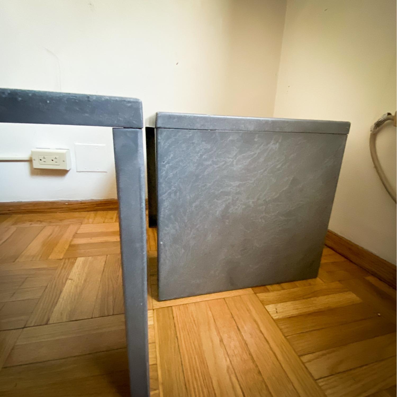 CB2 Skinny Dip Galvanized Indoor/Outdoor Tables - image-3
