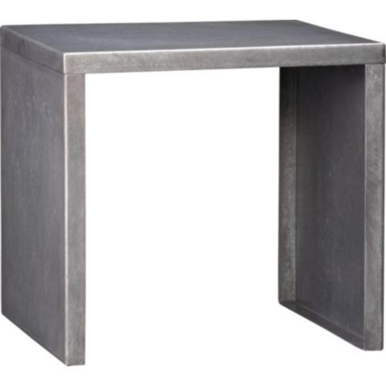 CB2 Skinny Dip Galvanized Indoor/Outdoor Tables - image-4