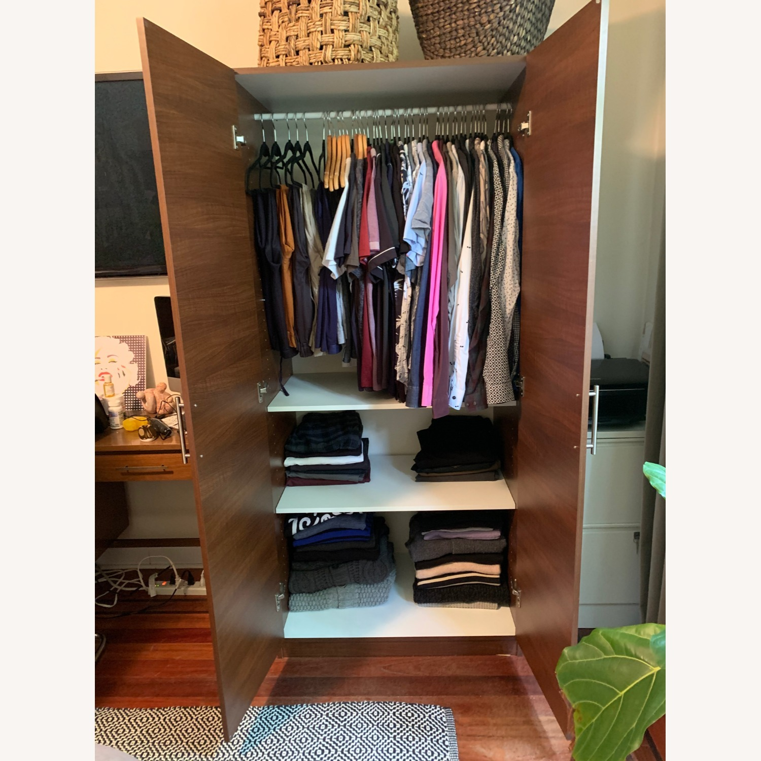 Custom Wardrobe Closets with Drawers and Shelves - image-2