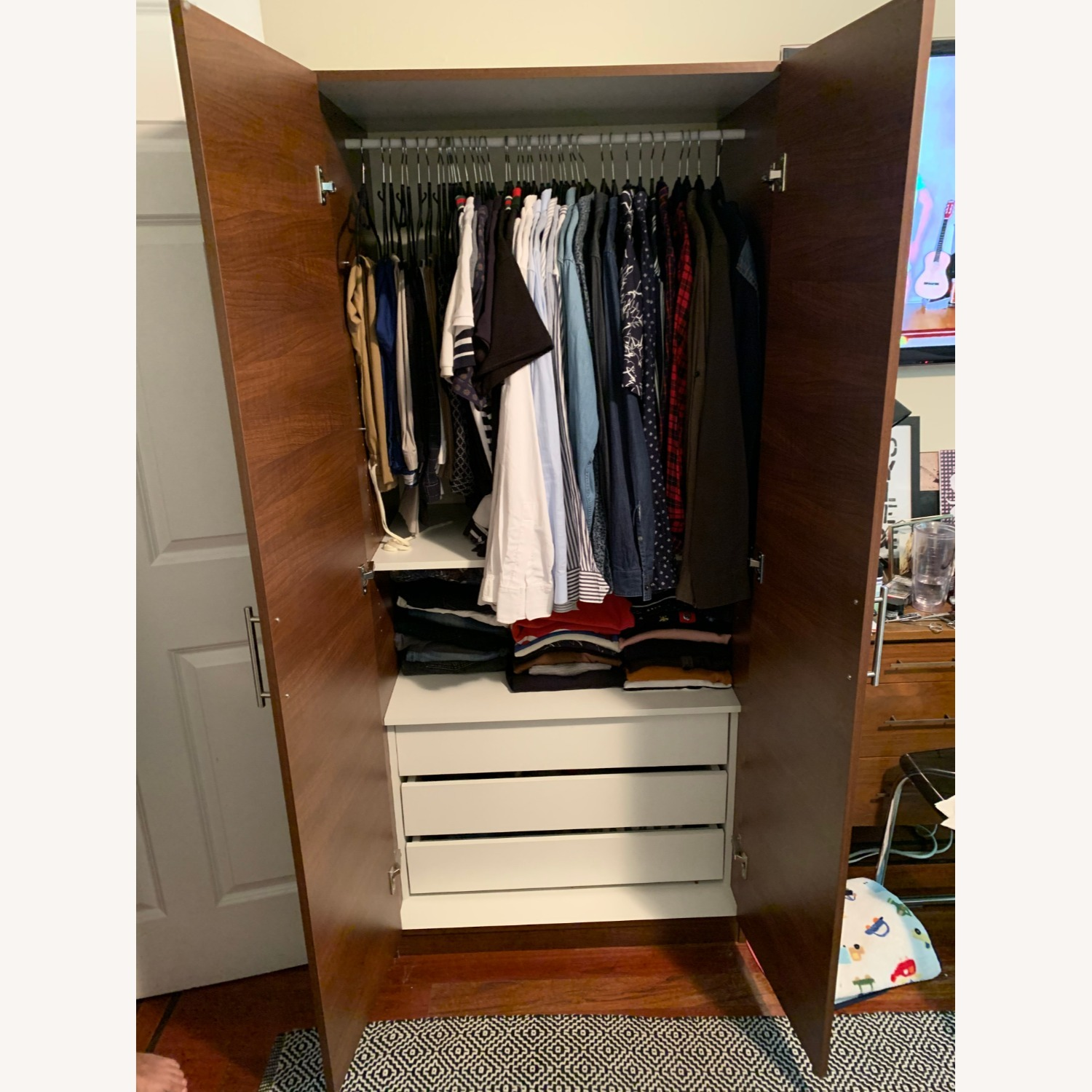 Custom Wardrobe Closets with Drawers and Shelves - image-3