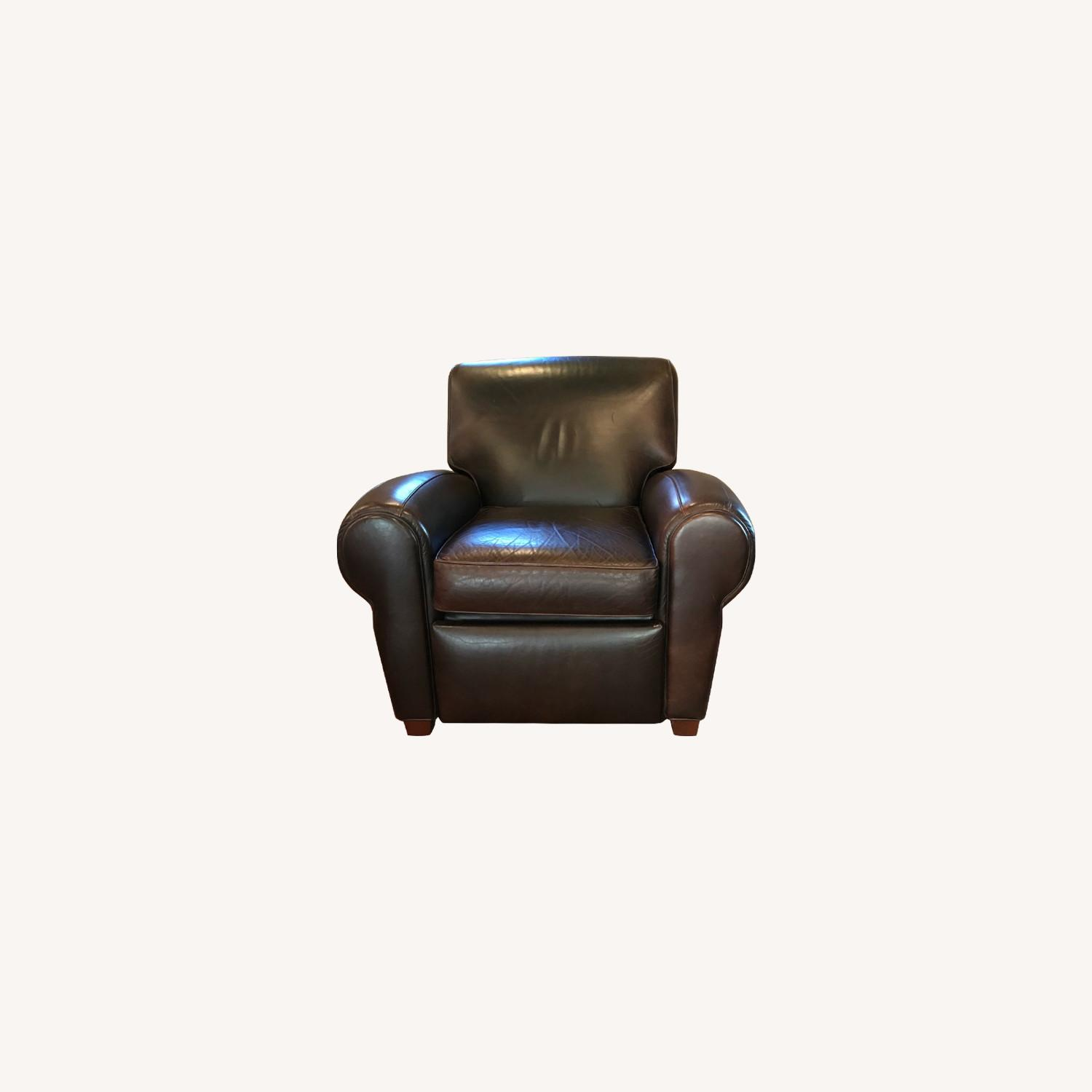 Pottery Barn Manhattan Leather Recliner - image-0