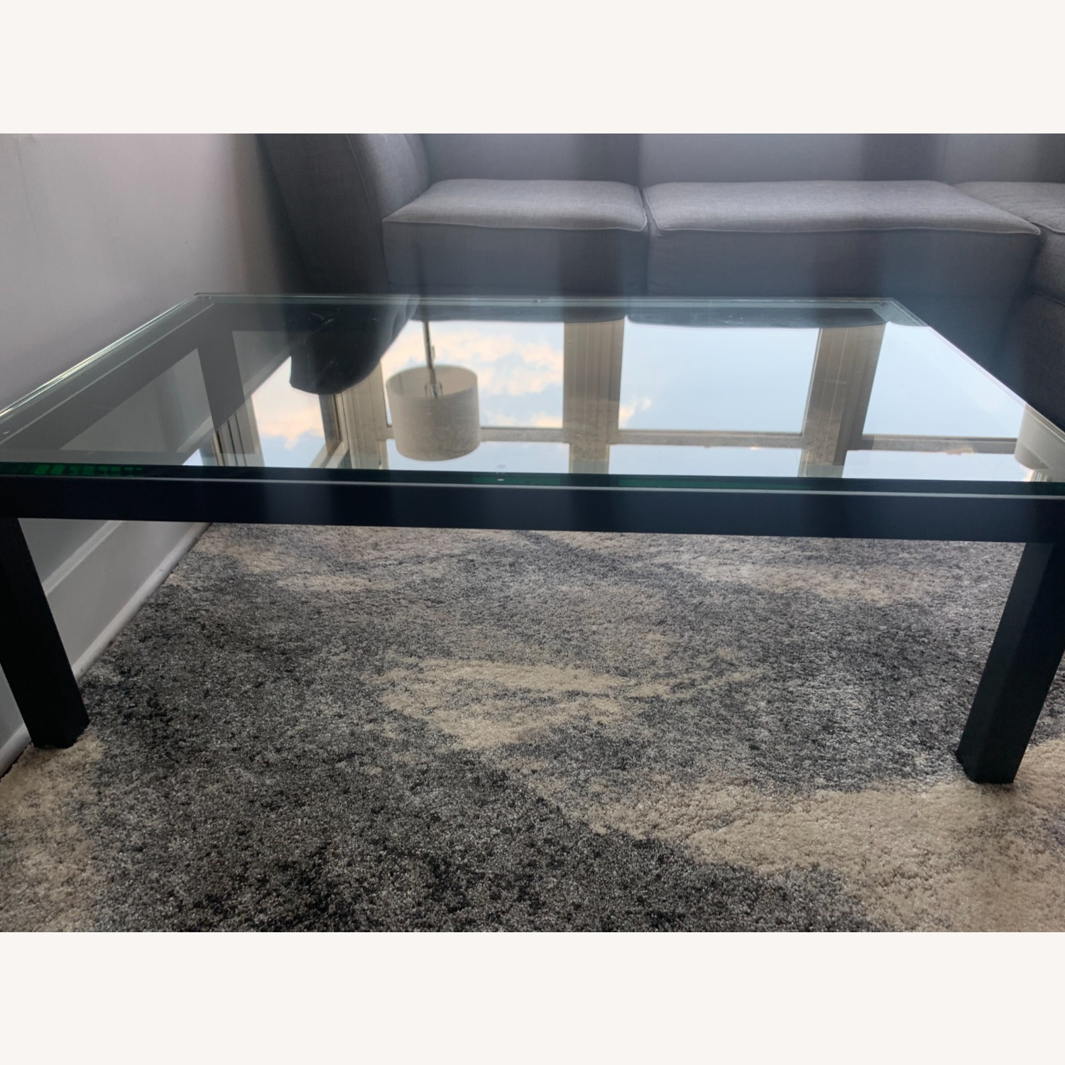 Crate and Barrel Glass Rectangular Coffee Table - image-5