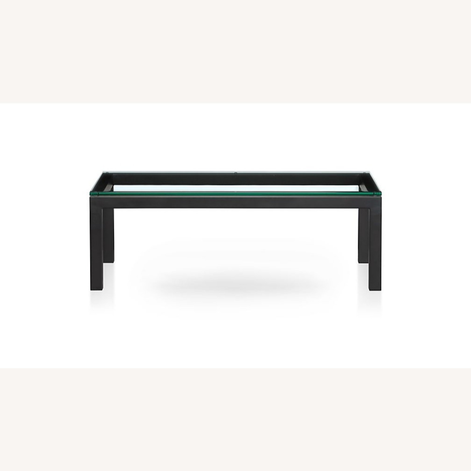 Crate and Barrel Glass Rectangular Coffee Table - image-1